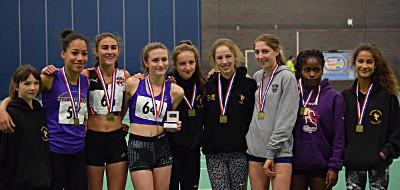 Under-15 Girls (L-R) Charlotte Kania, Emily Misantoni, Daisy Worthington, Abi Pa