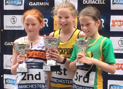 Stockport's Freya (two socks) Murdoch took pride of place with a winning perform