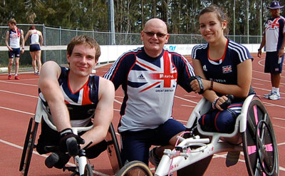 Rick's picture here with GB Team members Jade  Jones and Mickey Bushell
