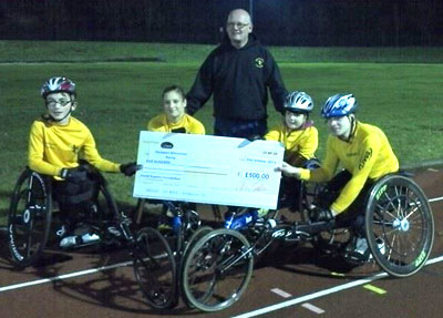 £500 for Stockport Wheelchair Racers