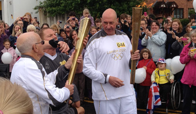 Olympic torch relay celebrations