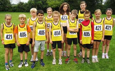 There was a great turn out from our younger section at the Cheshire Relays