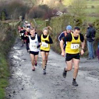 Paul Stepto half way up the never ending hill from the start