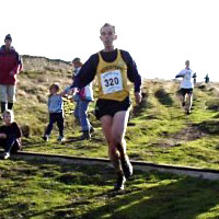 Tim Hargreaves makes light work of the fast downhill finish