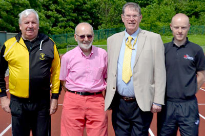 Left to right: Peter Powell (SHAC), Mike Durcan (SHAC – chair), Councillor Marti