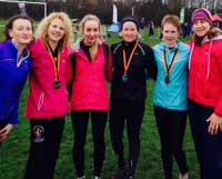 The senior ladies' team came home with silver medal