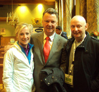 Elle and Dave Turnbull with Luis Van Galle
