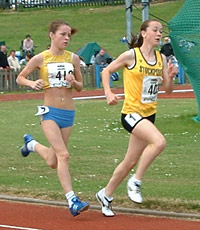 Jess Coulson's front running tactics paid off in the 1,500 metre final