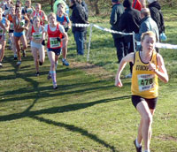 Jess Coulson goes from the gun in the National Cross Country