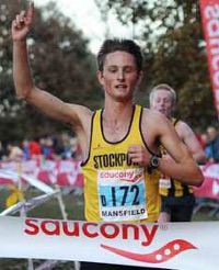 Jack Martin lead home Stockport by over 24 seconds from Morpeth © Mark Shearman