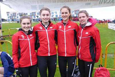 Katie Whiteoak (left) finished a useful 4th place in the junior women's event in