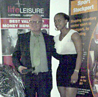 Olympic boxer Natasha Jonas presented the award to Rick