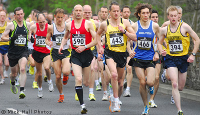Stockport Harriers were out in force at the Salford 10km