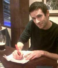 New signing for the Harriers Irish international marathon runner Sean Connely ca