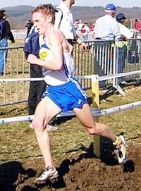 Steve Vernon feels the heat in the World Cross-country Championships in Saint Galmier, France