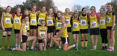 Under 13 girls at Heaton park