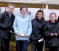 The Under-13 girls took the bronze medal at the Northern Championship
