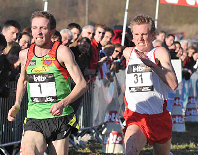 Steve Vernon had an excellent run in the Lotto Cross Cup event held in Dour.