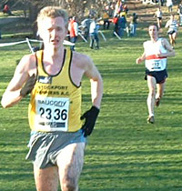 Steve Vernon finished third in his first senior outing at the Championships